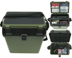 Shooting Range Gun Accessory Box and Seat Overview