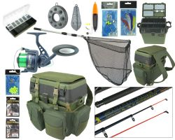 Roddarch Complete Sea Fishing Kit Including Seat Box & Rucksack
