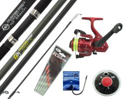Hunter Pro 10' Carbon-X Float Match Rod & SY200 Reel With Line & Tackle Set