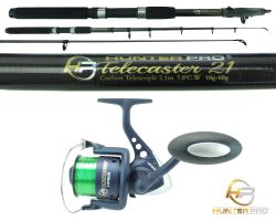 Hunter Pro® 7ft Carbon Fibre Telescopic Spinning Rod & HP60s Reel Overview 0