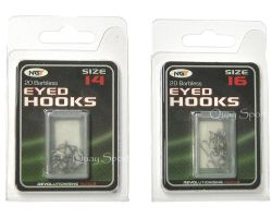 NGT Barbless Eyed Hooks. Size Various  (Pack of 20)