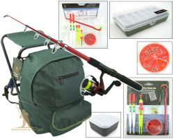 Roddarch Junior Complete Fishing Kit & Fishing Stool Backpack Complete