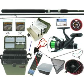 Complete Starter Coarse Float Fishing Kit Set. 11' Carbon Rod, Reel & Seat Box