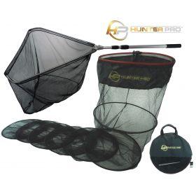 3m Keep Net With Stick Bag Bank Stick Large Specimen Landing Net Set. Hunter Pro Fishing Net Set