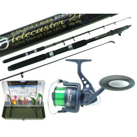 Pike Fishing Kit Carbon Fibe Rod Angling Overview 1