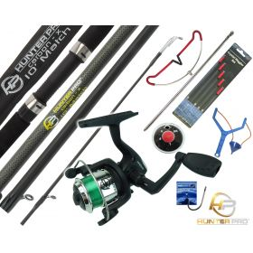 Starter Fishing Tackle Set with Hunter Pro Rod, Reel & Tackle Set Overview