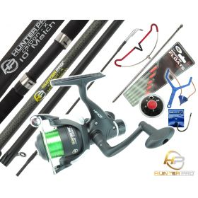 Hunter Pro Carbon Rod & HP40R Reel + Tackle Set Rod Rest & Catapult Overview