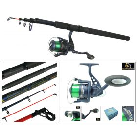 Roddarch 10FT Telescopic Beach Fishing Rod Hunter Pro HP60S Surf Reel