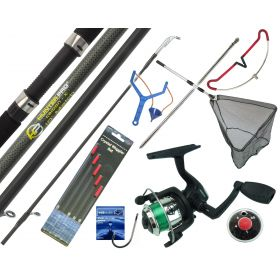 Starter Fishing Tackle Set with Hunter Pro Rod, Reel & Tackle Set With Net Overview