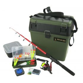 Roddarch Complete Junior Fishing Kit and Seat Tackle Box