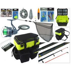SEA MAX Complete Sea Fishing Kit With 10' Surf Ace Rod & Hunter Pro HP60S Reel