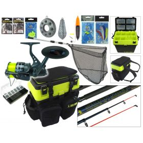 SEA MAX Complete Sea Fishing Kit With 10' Surf Ace Rod & Hunter Pro HP70S Reel Kit Overview