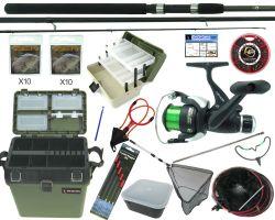 Complete Starter Coarse Float Fishing Kit Set. 11' Carbon Rod, Reel & Seat Box