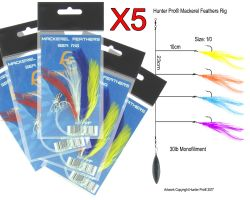 5 x Hunter Pro Mackerel Feather Sets Overview 1