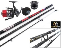 12ft Carbon Beach Caster Rod & Sea Fishing Reel