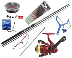 Hunter Pro 10' Carbon-X Float Match Rod & SY200 Reel With Line, Tackle & Accessories