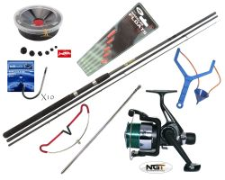 Hunter Pro 10' Carbon-X Float Match Rod & NGT TZ40R Reel With Line, Tackle & Accessories