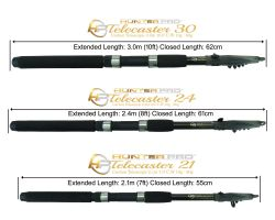 Hunter Pro® 7ft - 10ft Carbon Fibre Telescopic Spinning Rods Overview 1