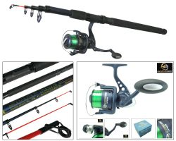 10ft Telescopic Beach and Pier Rod with HP60S Reel Overview