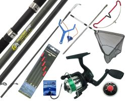 Starter Fishing Tackle Set with Hunter Pro® Rod, Reel & Tackle Set With Net Overview