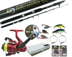 Pike Carbon Concept Spinning Rod with HP R200 Reel and Spinning Tackle Set 6ft 8ft