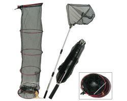 Roddarch Fishing Keep and Landing Net Set With Bank Stick