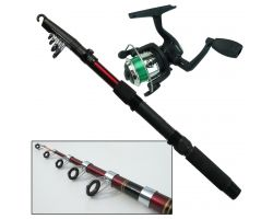 Roddarch Junior Beginners 2m Fishing Rod & HUNTER PRO HP200XR Reel Set Angling