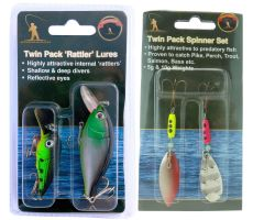 Roddarch Twin Pack Rattler Plugs & Advanced Spinner Twin Set