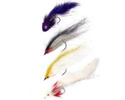 SNOWBEE Predator 2 Saltwater/Predator Fly Selection - Qty 4