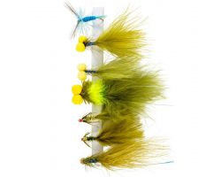 SNOWBEE Deadly Damsels Stillwater Fly Selection - Qty 7